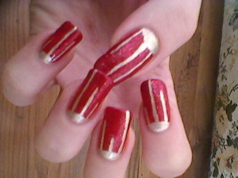 Half-sun? nail art by Mila