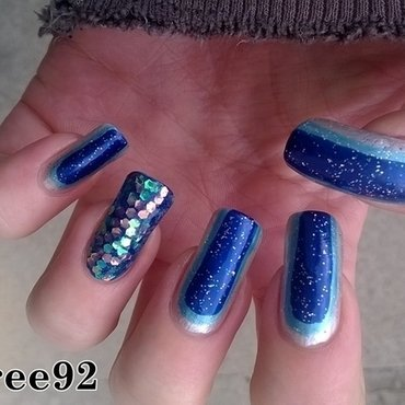 Bling nails nail art by Mila