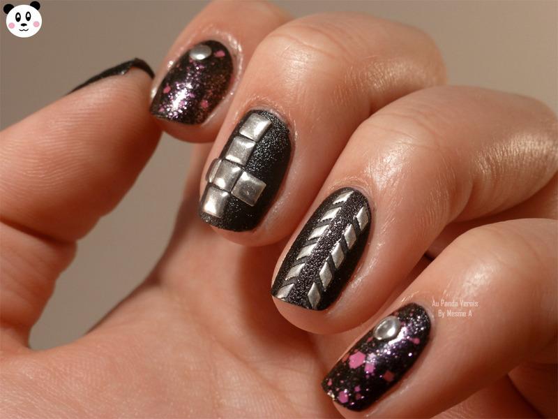 Rock mani nail art by Amandine