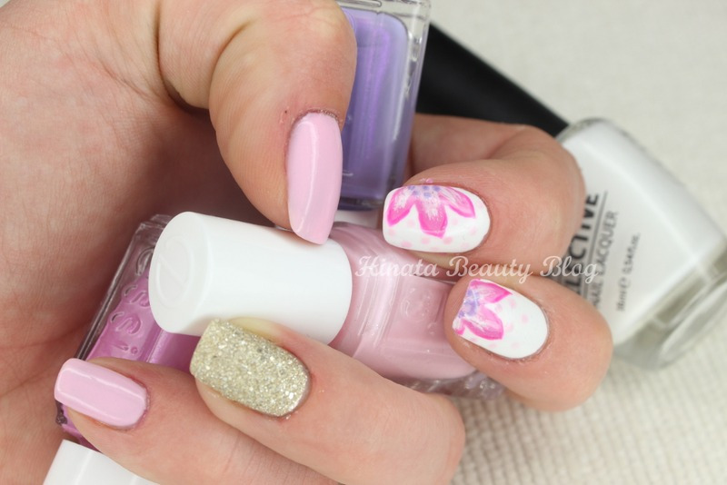 Pastel sand & flowers mix nail art by Hinata