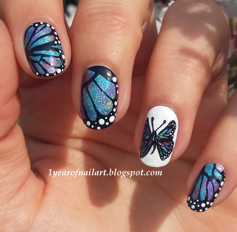 Butterfly Nails Nail Art By Margriet Sijperda
