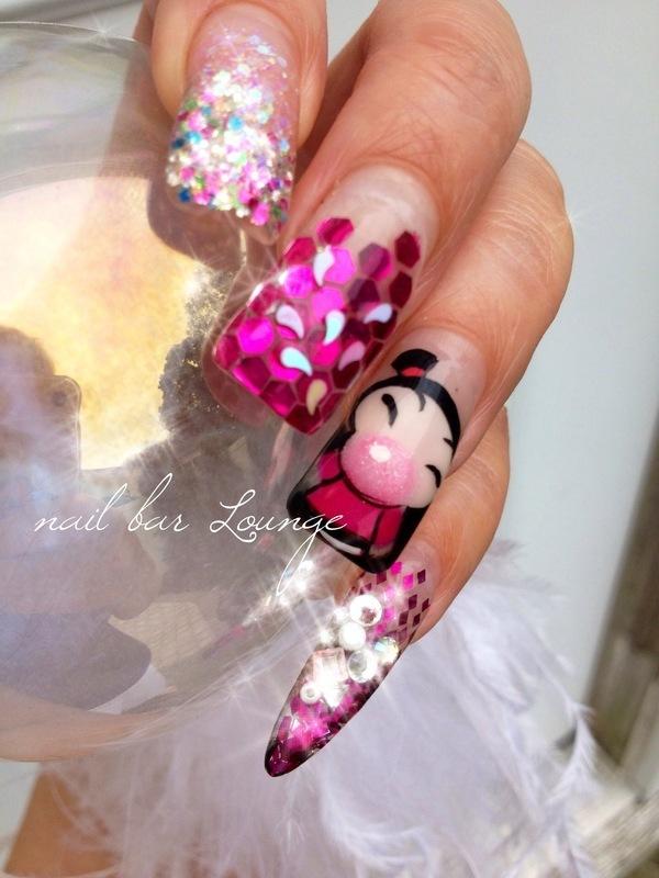 Bubble Yum nail art by Victoria Zegarelli nail bar Lounge