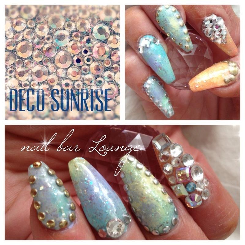 Deco Sunrise nail art by Victoria Zegarelli nail bar Lounge