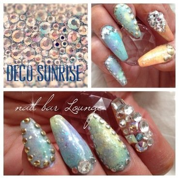 Deco Sunrise nail art by Victoria Zegarelli nail bar Lounge