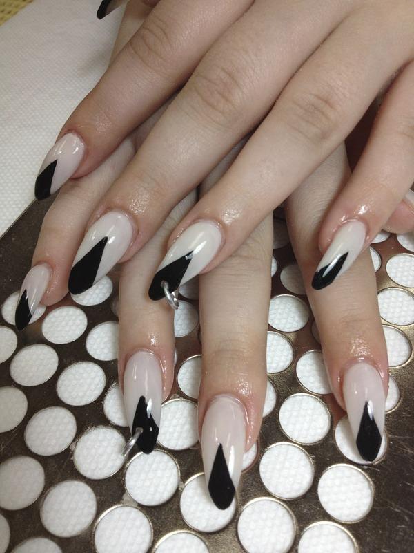 Pierced Black Diamond nail art by Victoria Zegarelli nail bar Lounge