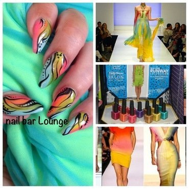 The Runway nail art by Victoria Zegarelli nail bar Lounge