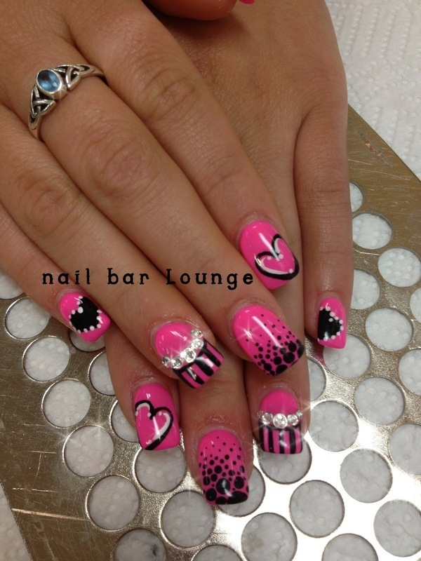 Alli Sweetheart nail art by Victoria Zegarelli nail bar Lounge
