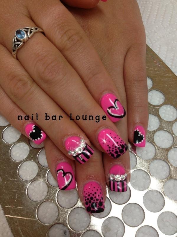 Alli Sweetheart nail art by Victoria Zegarelli nail bar Lounge
