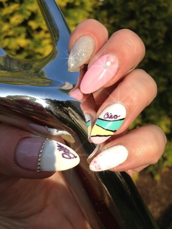 Ciao Bella nail art by Victoria Zegarelli nail bar Lounge