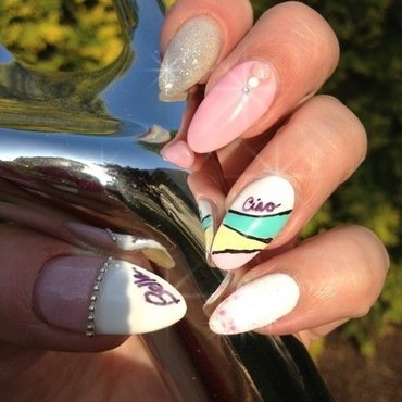 Ciao Bella nail art by Victoria Zegarelli nail bar Lounge