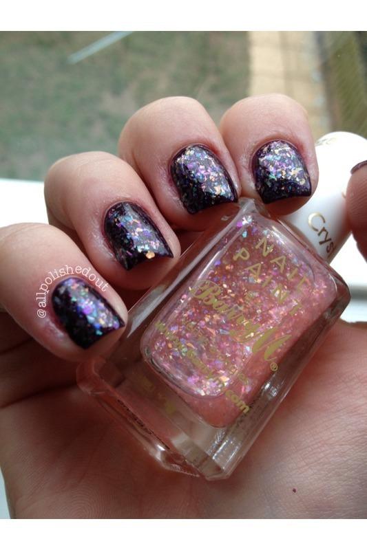Crystal Glaze nail art by allpolishedout