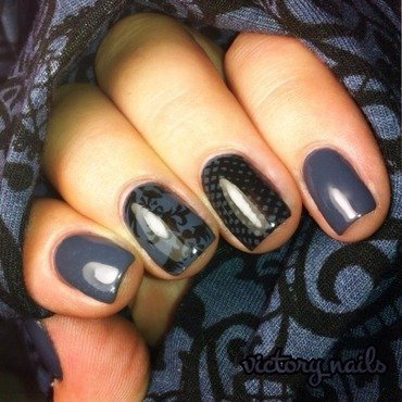 Clothing inspired  nail art by Nicole