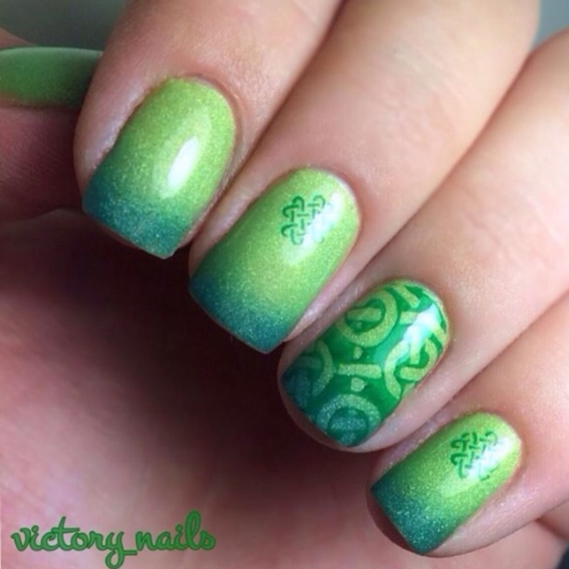 St.Patrick's Day 2014 nail art by Nicole