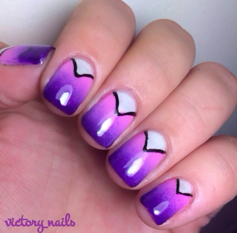 Radiant Orchid inspired nail art by Nicole
