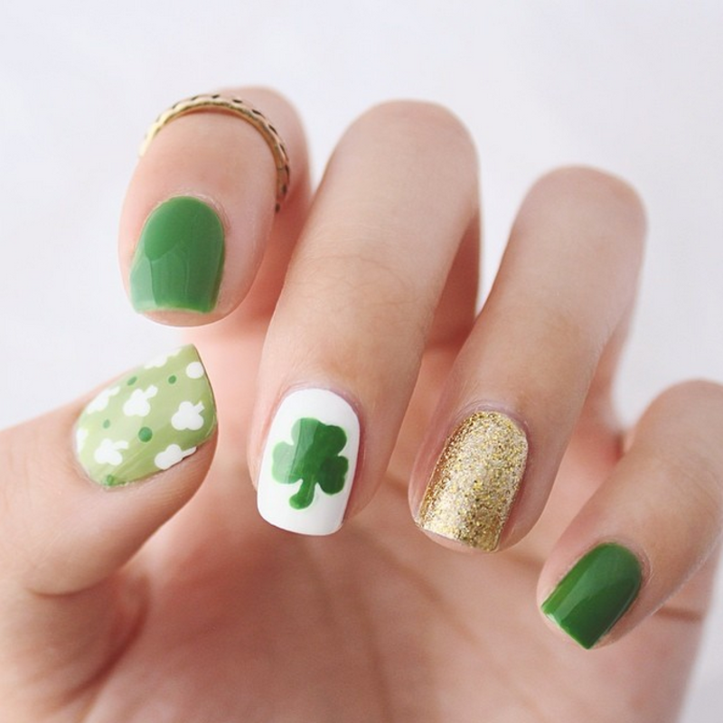 St. Patrick's Day Manicure nail art by Jasmine (Californails)