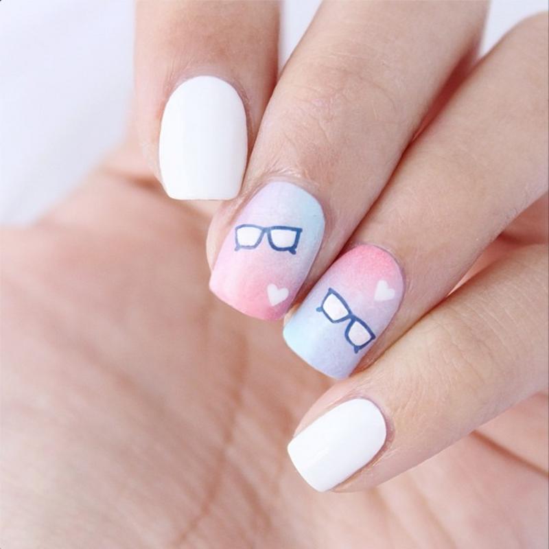 Nerdy Love nail art by Jasmine (Californails)