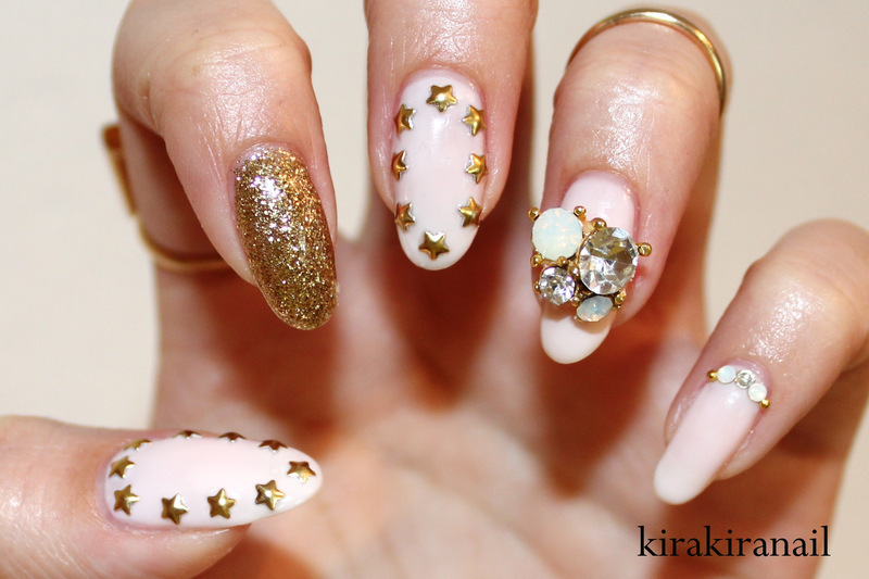 Stars & Glam nail art by Kira Kira