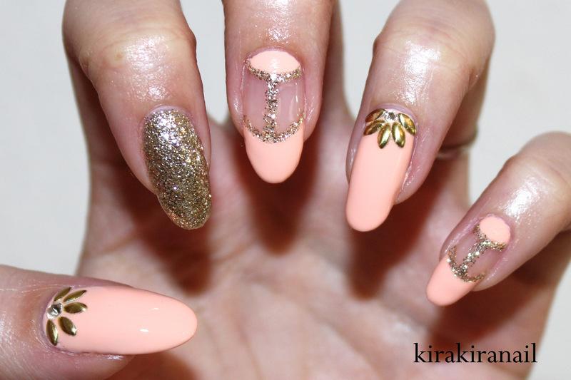 Studded Flowers nail art by Kira Kira