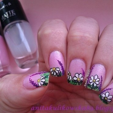 Daisy Nails Part 2 nail art by Anita