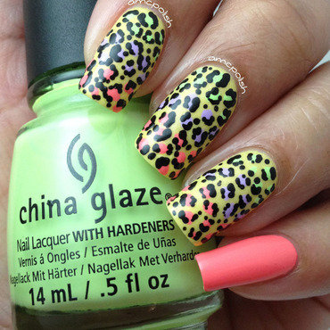 Colorful Animal Print nail art by Amber Connor