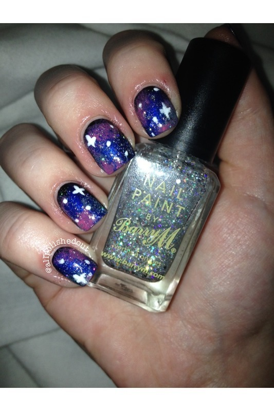 Galaxy Nails nail art by allpolishedout