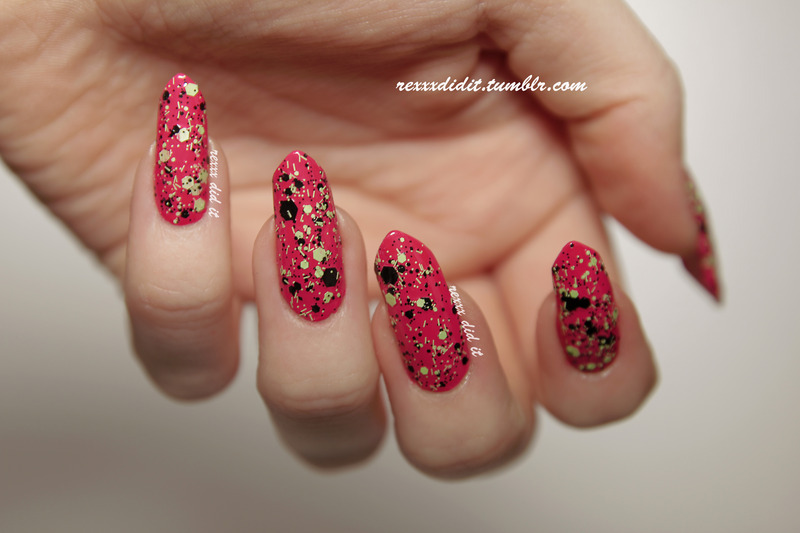 OPI Amazing California Love and Maybelline Colorshow Boombox Black Swatch by Robin