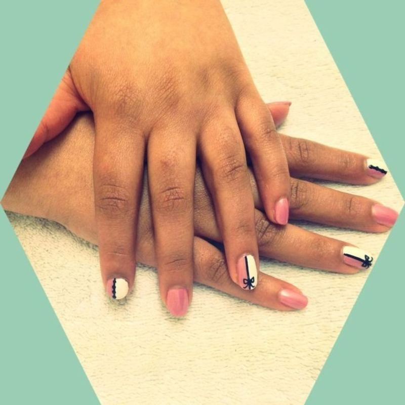 Feeling pretty nail art by ilovenailsuk