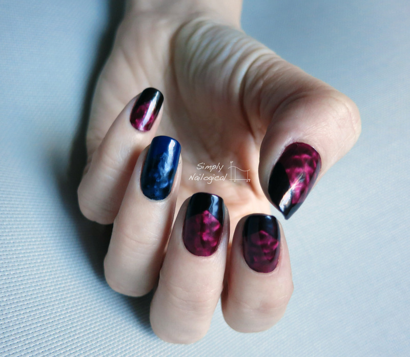 Magnetic polishes nail art by simplynailogical