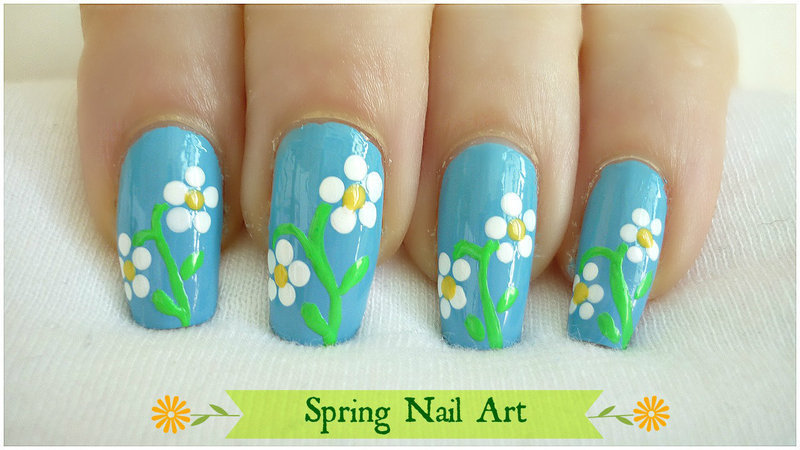 Spring Nail Art nail art by Cherry Blossom Nail Art