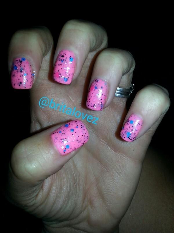 Speckled Easter Egg! nail art by britalovez