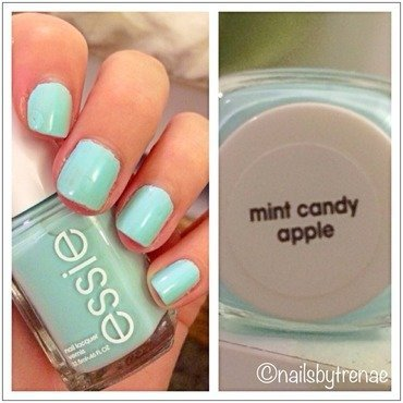 Essie Mint Candy Apple Swatch by nailsbytrenaeb