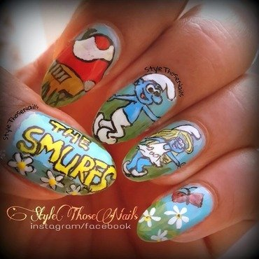 Smurfs Nail Art nail art by Anita Style Those Nails