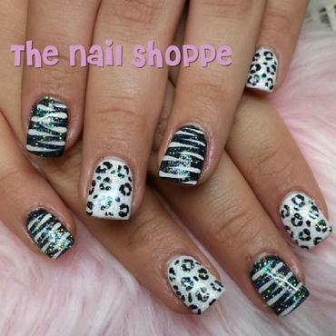 Black & White Animal print nail art by Dita Von Tawana of The Nail Shoppe