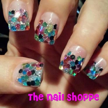 Multi Color Confetti nail art by Dita Von Tawana of The Nail Shoppe