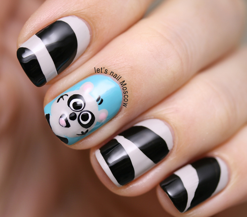 Let S Talk Nail Art: Racoon Nails / Nail Art :) Nail Art By Let's Nail Moscow
