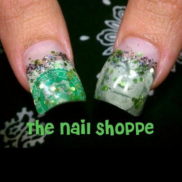 Show me the Money nail art by Dita Von Tawana of The Nail Shoppe
