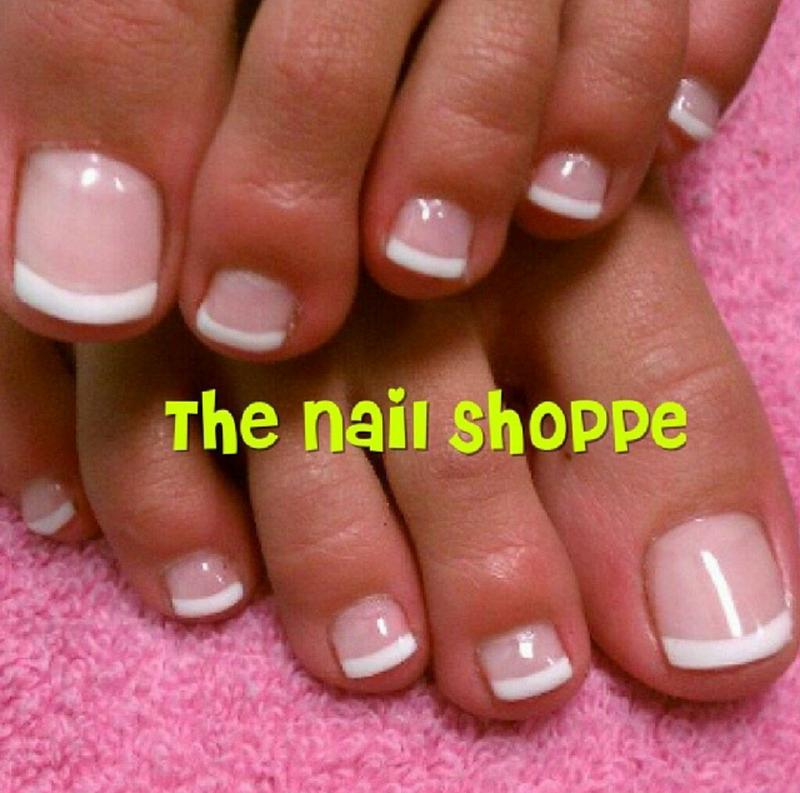 French Toes nail art by Dita Von Tawana of The Nail Shoppe