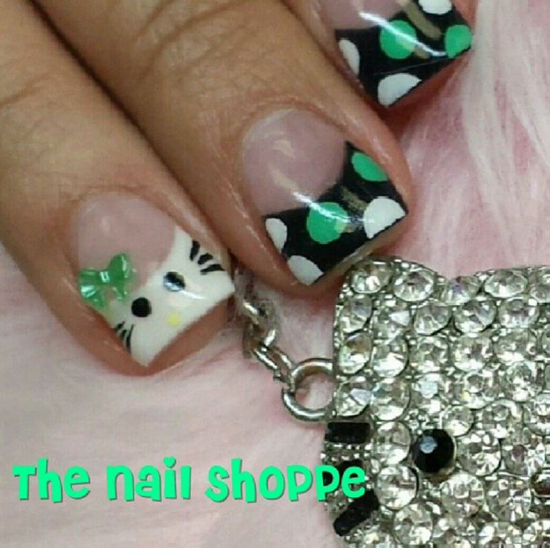 Hello Kitty nail art by Dita Von Tawana of The Nail Shoppe