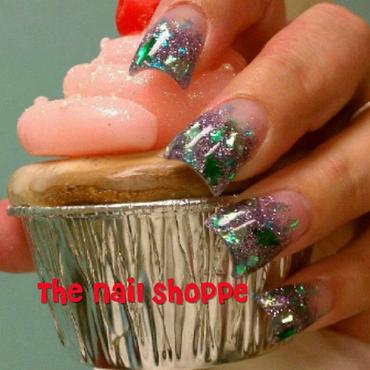 Christmas Tree Mylar nail art by Dita Von Tawana of The Nail Shoppe