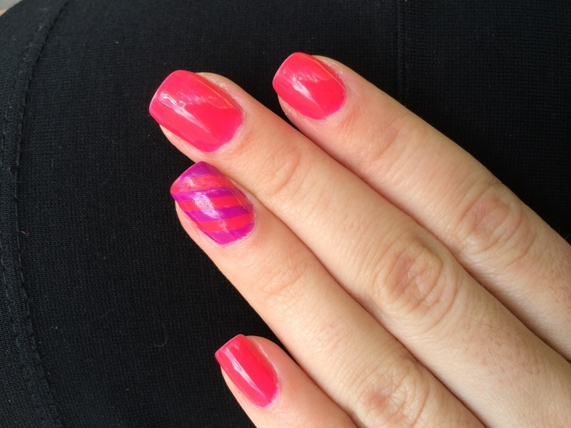 Tape design nail art by nailsbytrenaeb