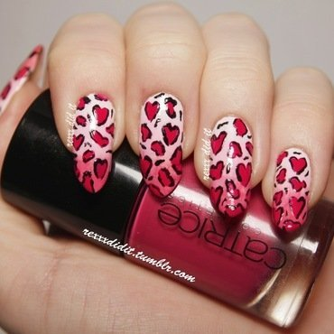 Valentine's Day Appropriate Leopard Print nail art by Robin