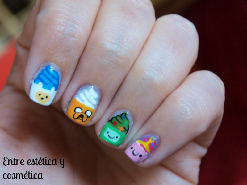 Adventure Time - #RetoCartoonNetwork nail art by MartaRuso