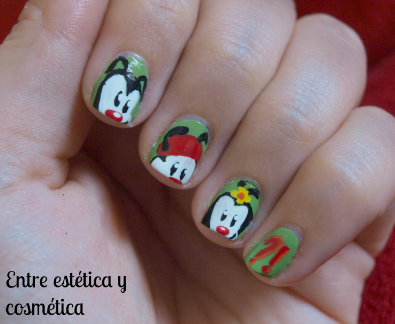 Animaniacs - #RetoCartoonNetwork nail art by MartaRuso