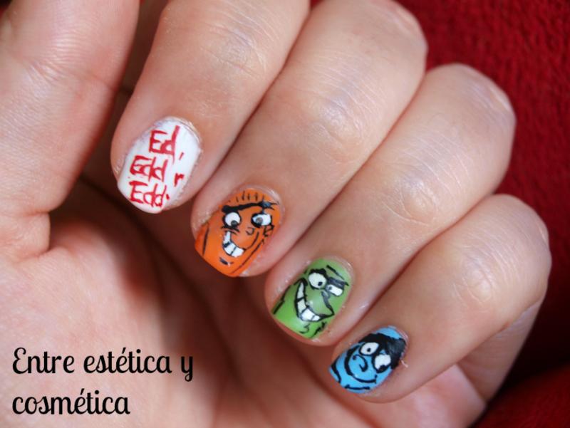 Ed, Edd n Eddy - #RetoCartoonNetwork nail art by MartaRuso
