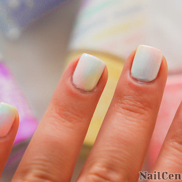 Pastel color marble nails thumb370f