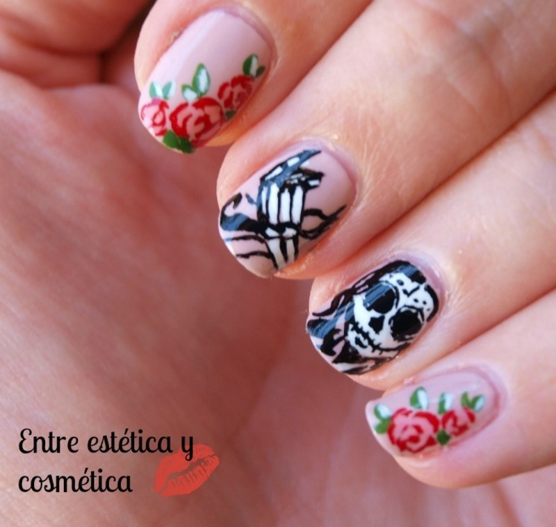 Catrina - Halloween Nails'13 nail art by MartaRuso