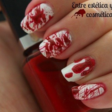Blood - Halloween Nails'13 nail art by MartaRuso