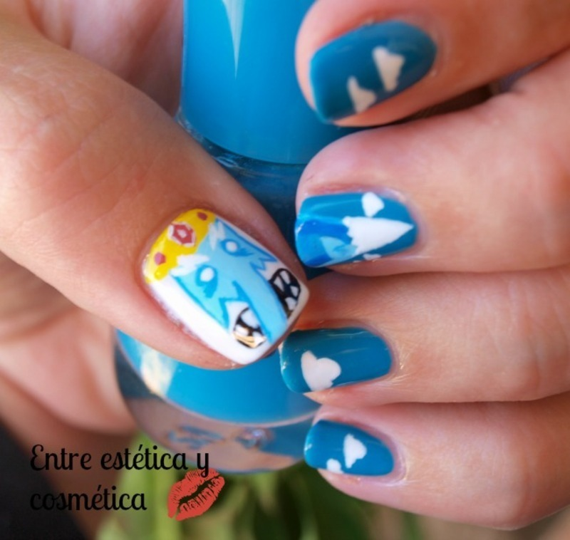 Ice King manicure nail art by MartaRuso