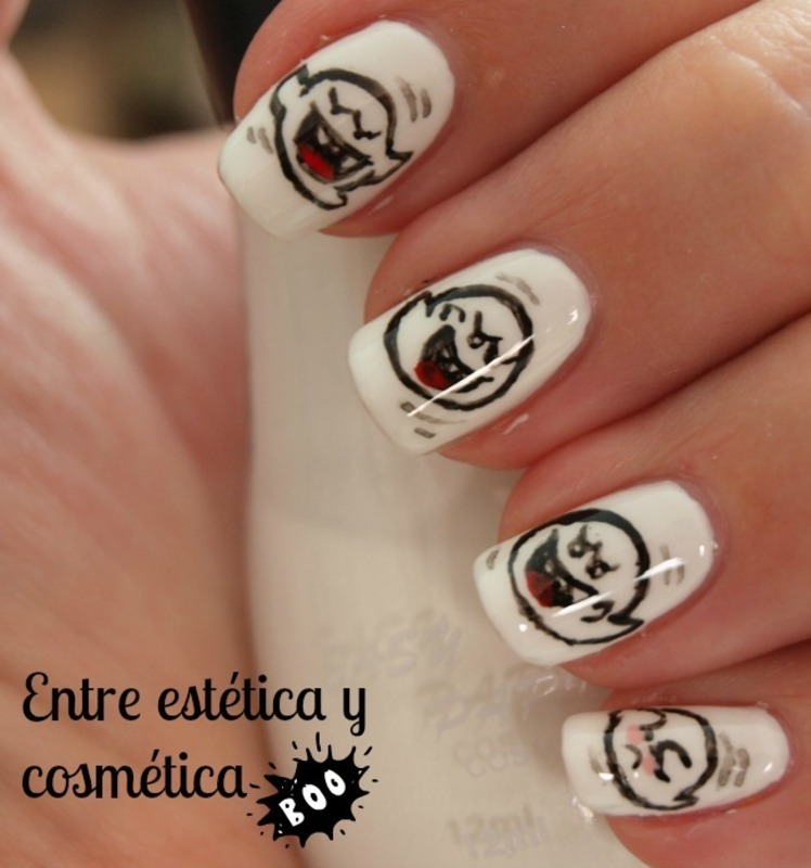 Boo nail art by MartaRuso