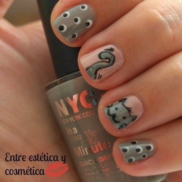 Cat Grey nail art by MartaRuso